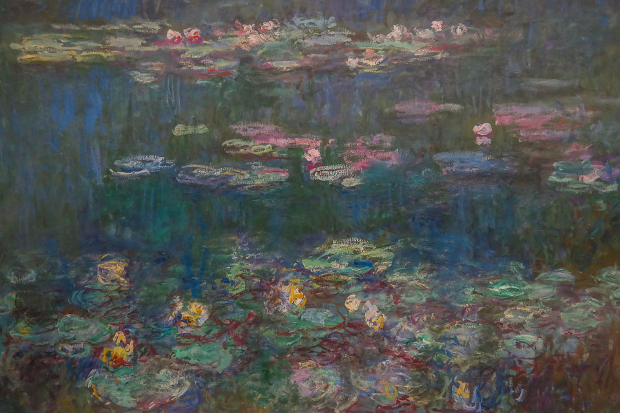 Monet's water lilies at the Orangerie, Paris