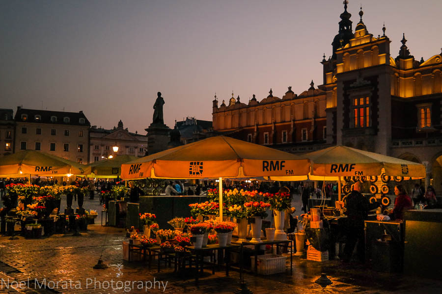 Touring Krakow at night