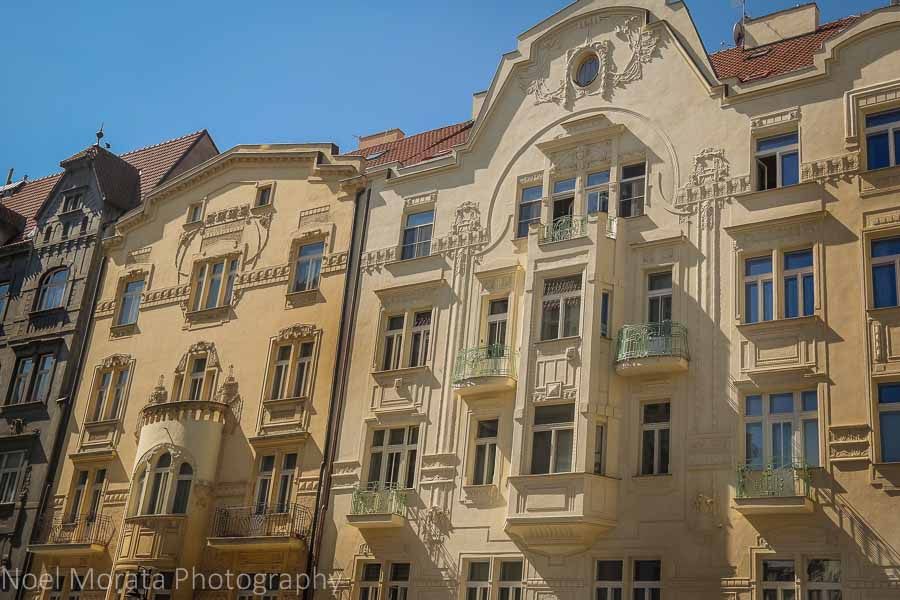 Gorgeous architecture in Prague's historic central district