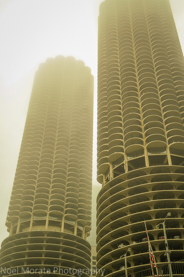 Lost in the clouds in Chicago city