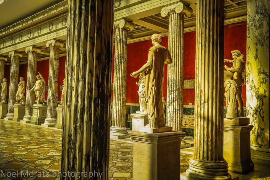 Recreated Roman villa and statuary at the Glyptotek, Copenhagen