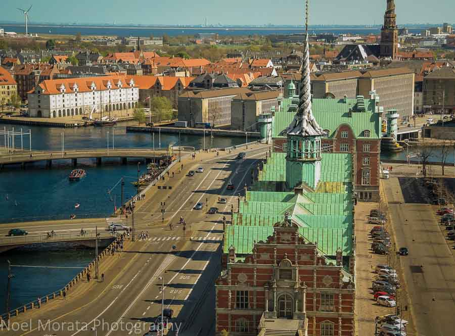 Views across to Christianshavn or Christiana town in Copenhagen