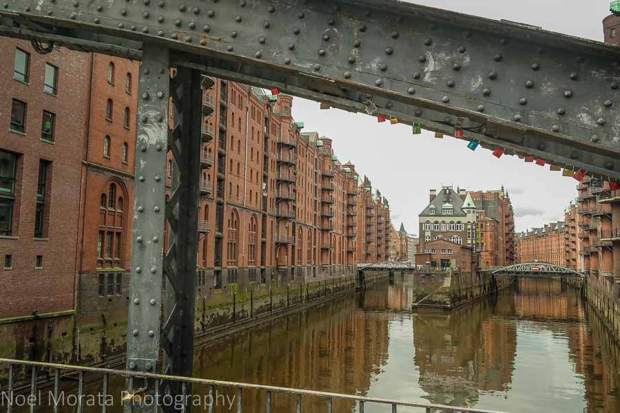 A bridge view to the Speicherstadt Warehouse District - a new Unesco site