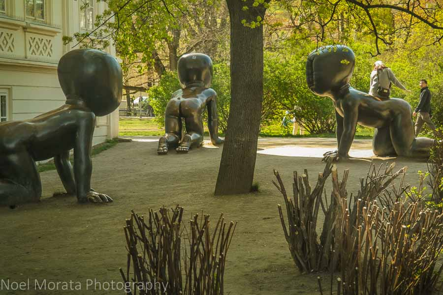Prague's public art scene - David Cerny Babies at Kampa Park