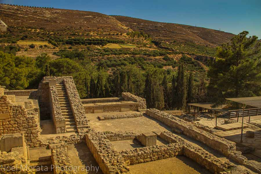 Foundations and stairs at Knossos in Crete, Greece
