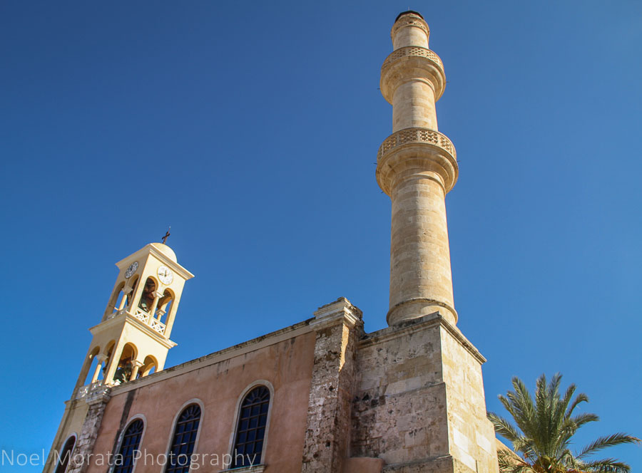 An Islamic temple converted to a Catholic church in Chania, Greece