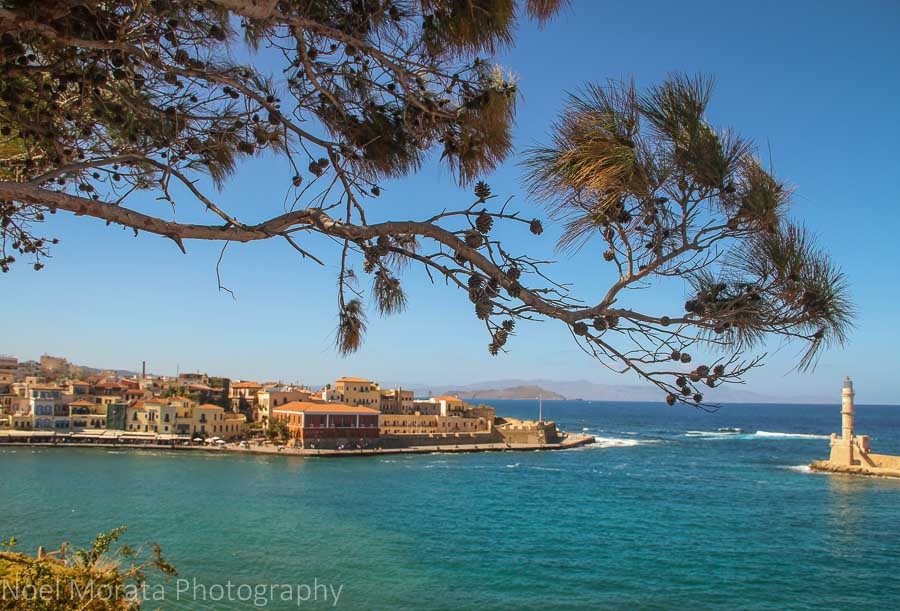 Chania harbor from above - Exploring Chania, Crete