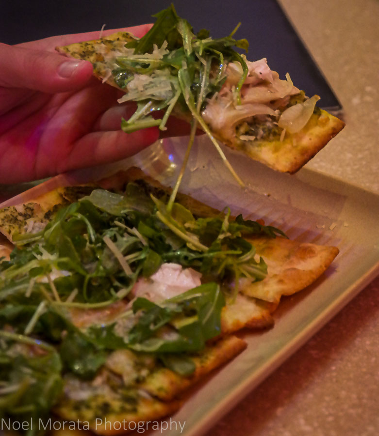 Pupu flatbread with local ingredients at Sheraton's Rays on the Bay
