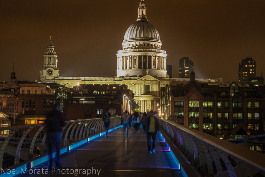 St. Paul's Cathedral at night in London