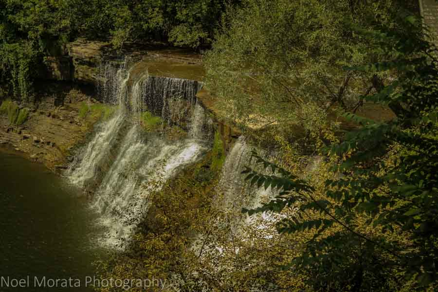 Chagrin falls and town - Cleveland Metro parks