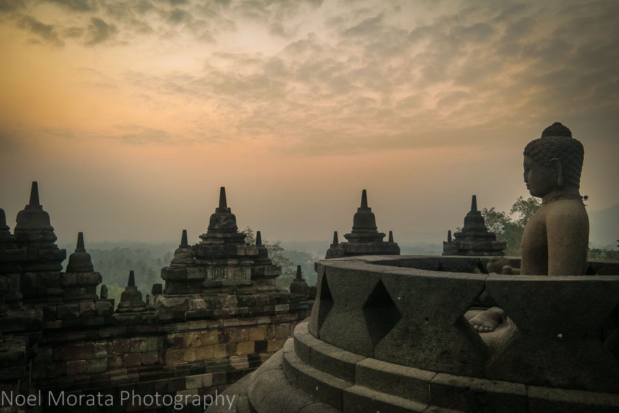 Sunrise at Borobudur Travel Photo Postcard - Borobudur
