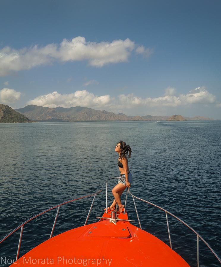 Hanging out at the port deck - Komodo National Park