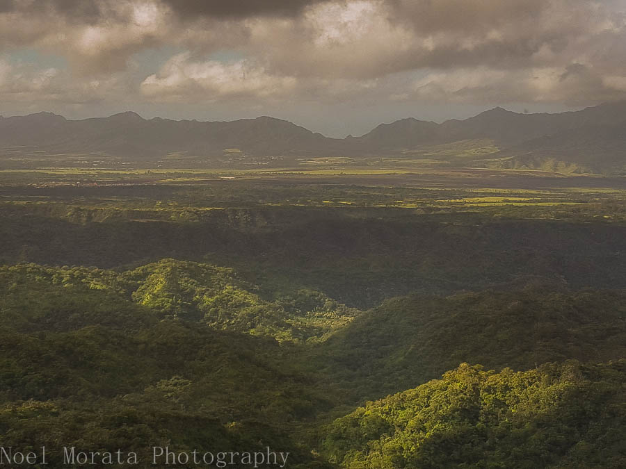 Lush landscape of Oahu's northern mountain region
