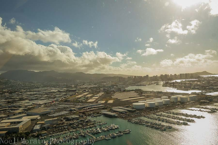 Honolulu harbor - Helicopter ride around Oahu