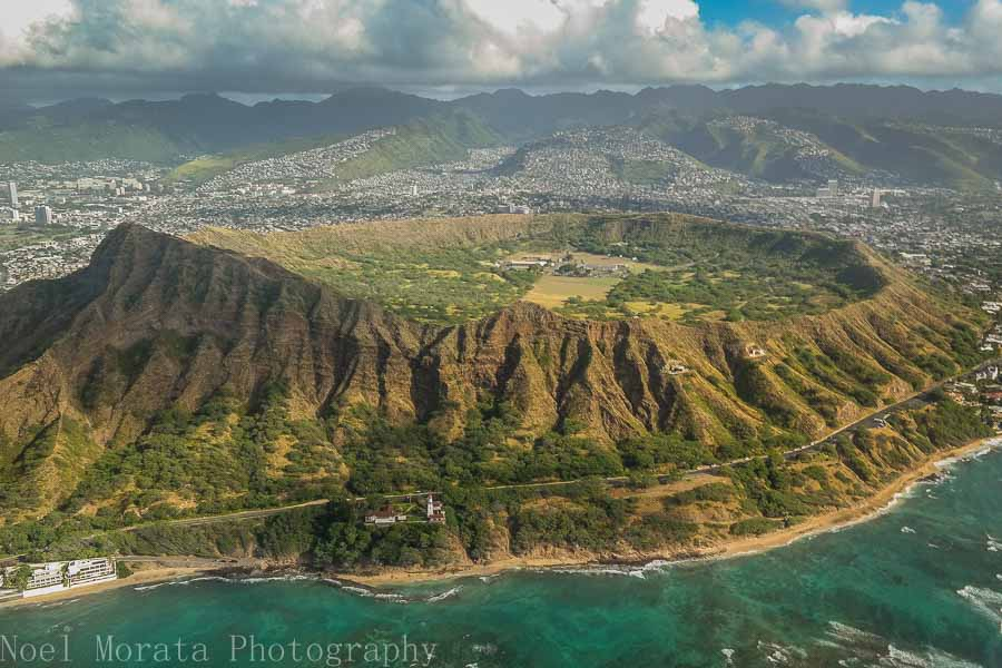 Helicopter ride around Oahu