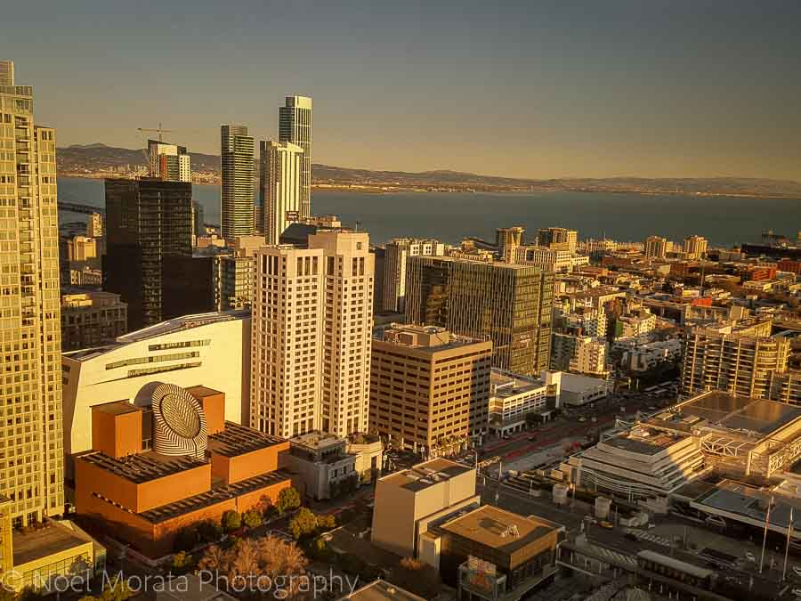 San Francisco views from above - at the View Lounge Marriott Marquis