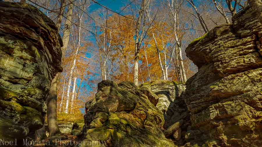 Visiting Hinckley reservation in autumn, Ohio