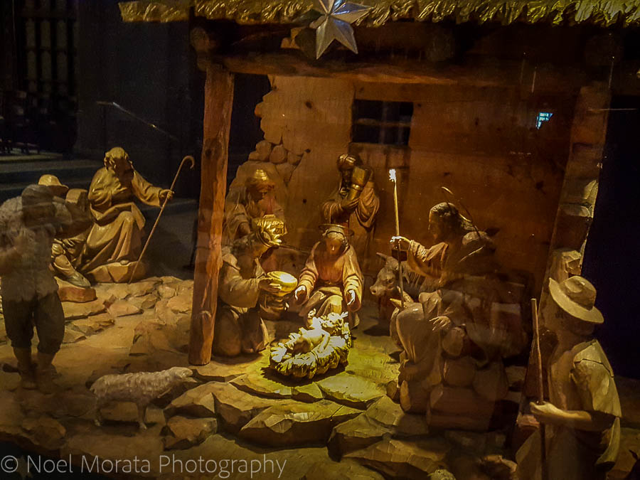 Manger scene at Grace Cathedral - Christmas in San Francisco