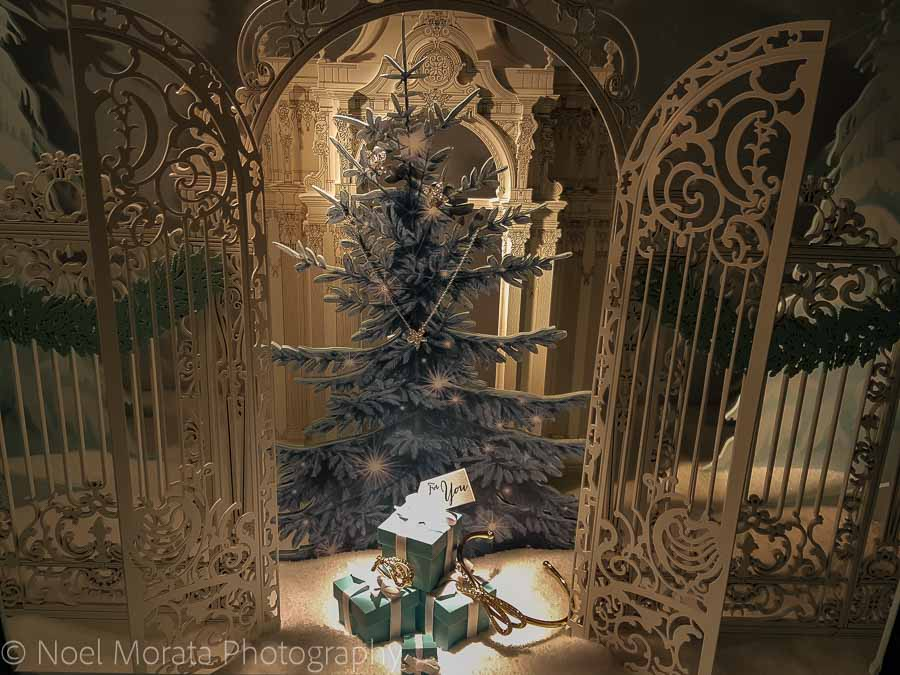 Tiffany's window scene - Christmas in San Francisco