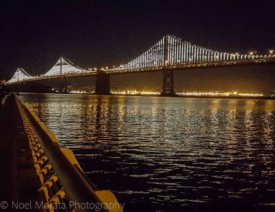 San Francisco Bay Bridge light up in San Francisco