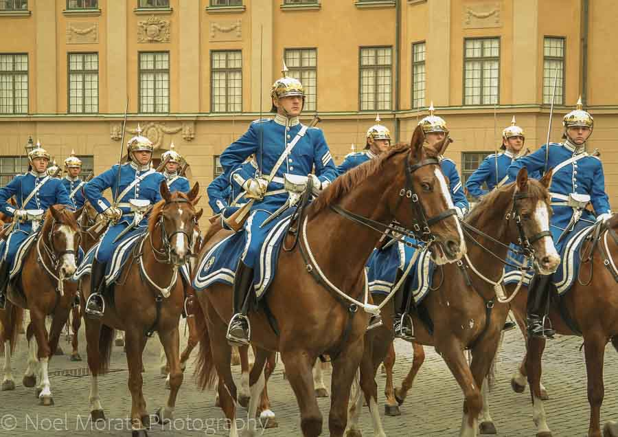 Changing of the guards at Stockholm's royal palace