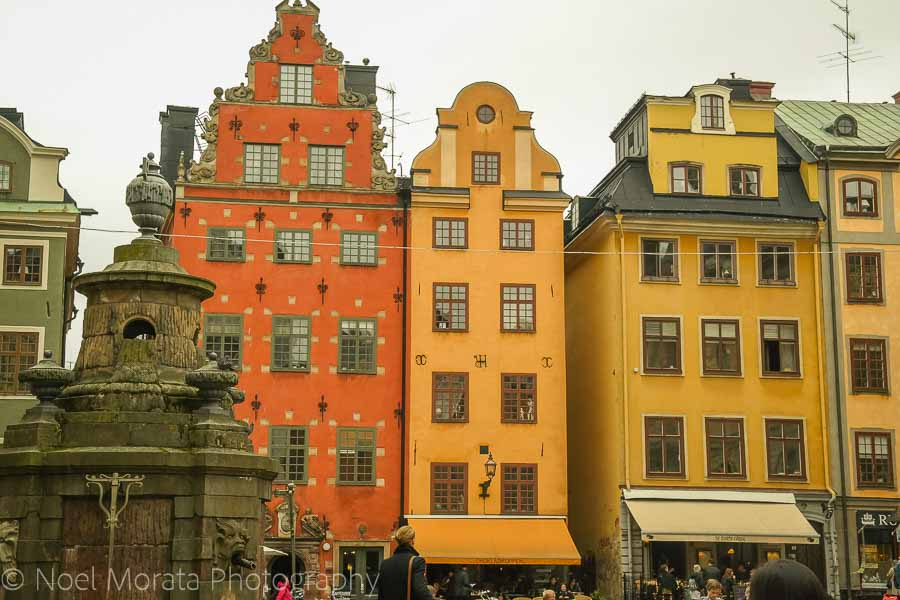 The scenic large square called Stortorgetin in the centre of Gamla Stan