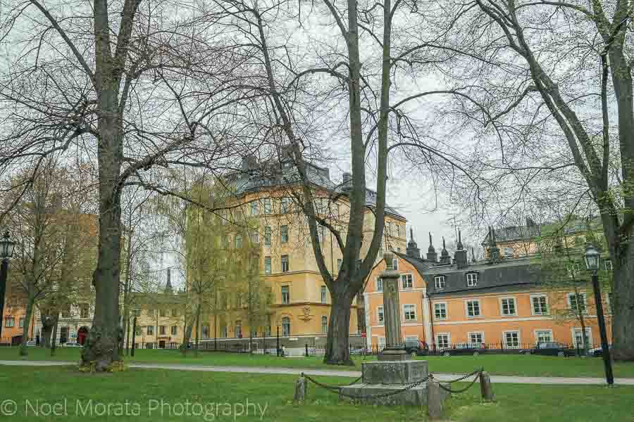 A square in Soldermalm - Visiting Stockholm - a first impression