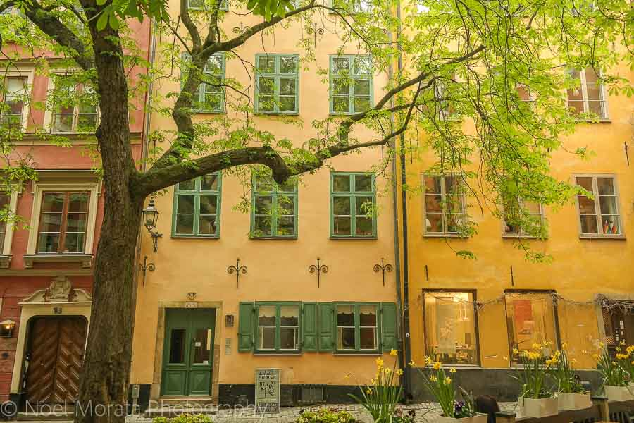 Tucked away squares in Gamla Stan - Visiting Stockholm - a first impression