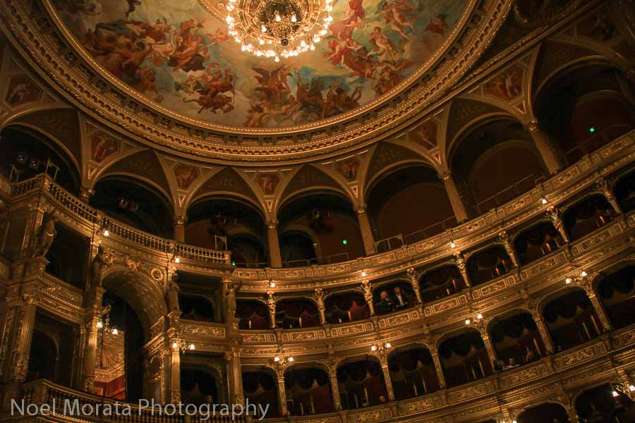 Budapest Opera house at night time