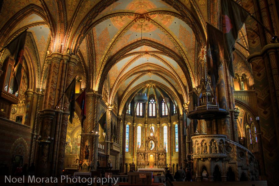 Matthias church interior - Best places to photograph Budapest, Hungary