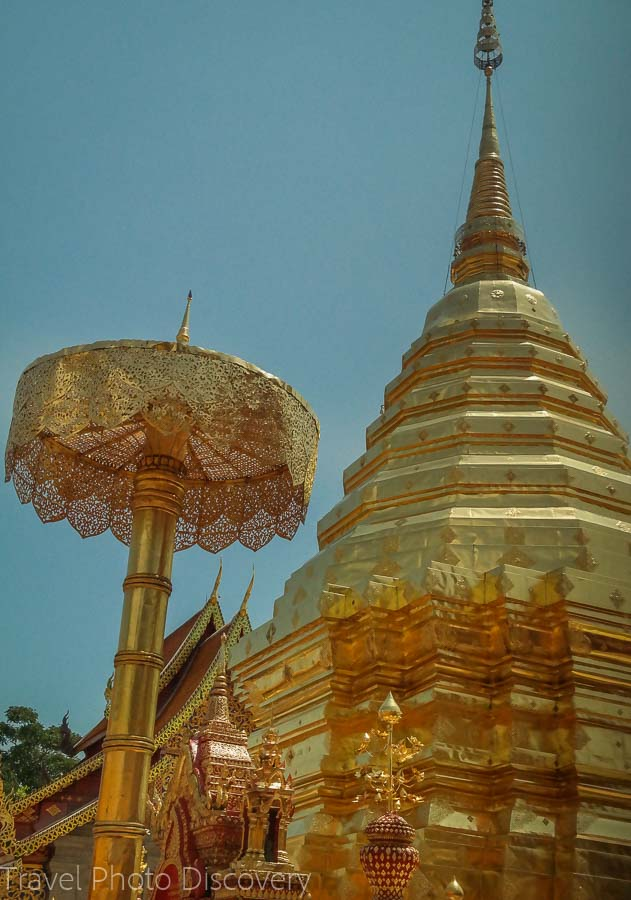 Golden Chedi Visiting Wat Phra That Doi Suthep