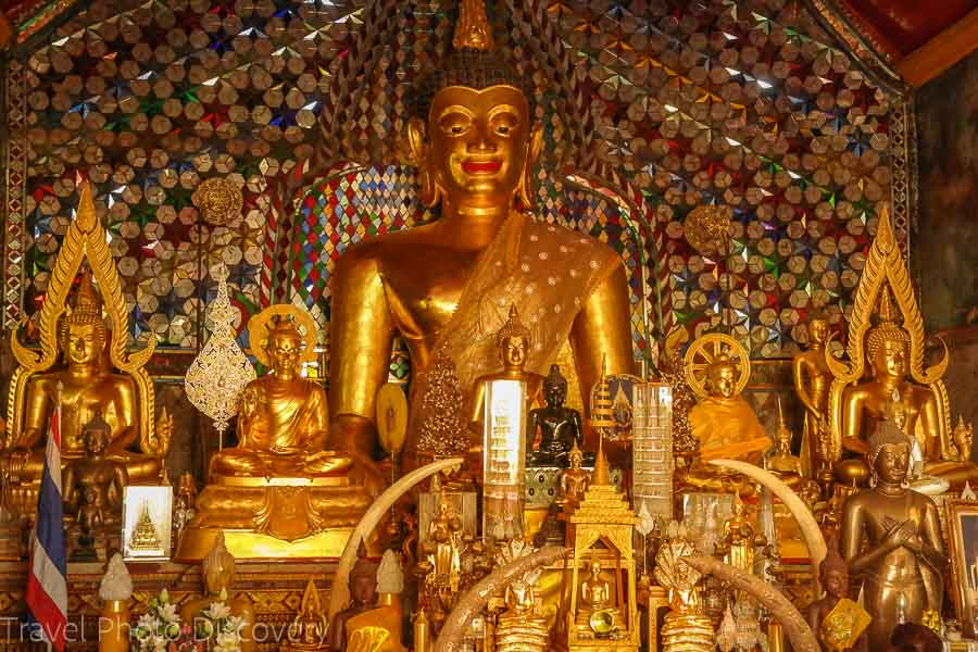 Buddhas on display in several shrines of Doi Suthep