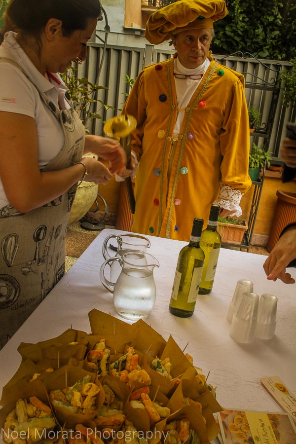 Sampling pasta and wine from Northeastern Italy