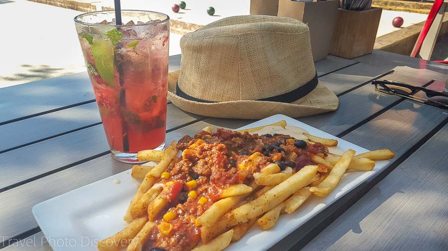 Dining options at Plank in Jack London Square Oakland