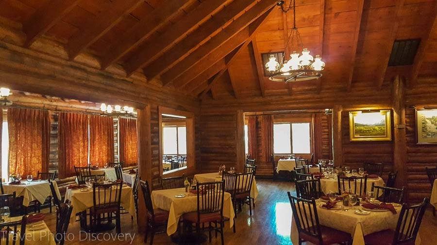 Dining room at Jenny Lake Lodge at the Grand Tetons