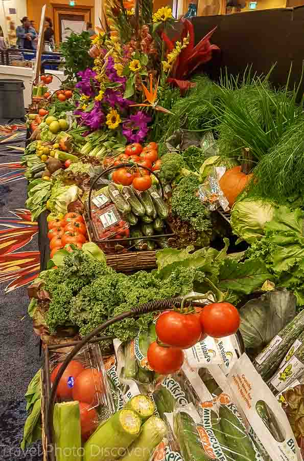 Produce displays at the Taste of the Hawaiian Range