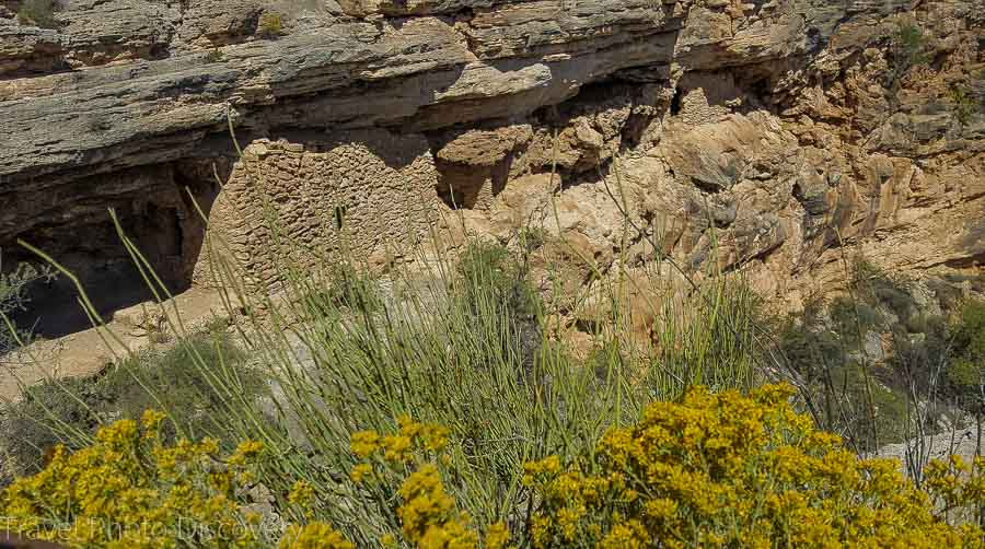 The cliff dwellings at Montezuma's well in central Arizona
