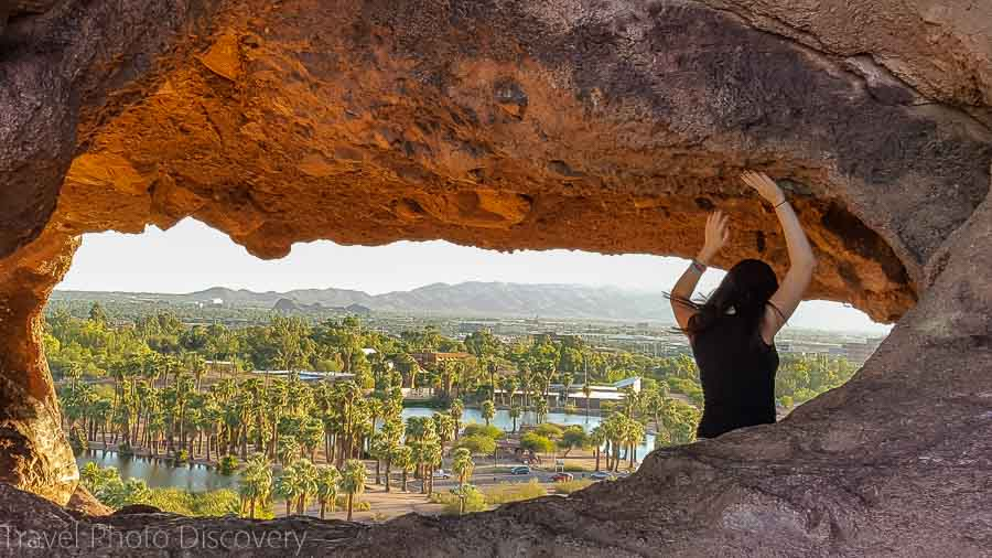 Hole in the Rock at Papago Park in Phoenix Arizona