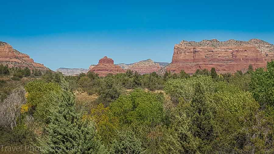 Views from the Red Rocks ranger and visitors station looking at Sedona