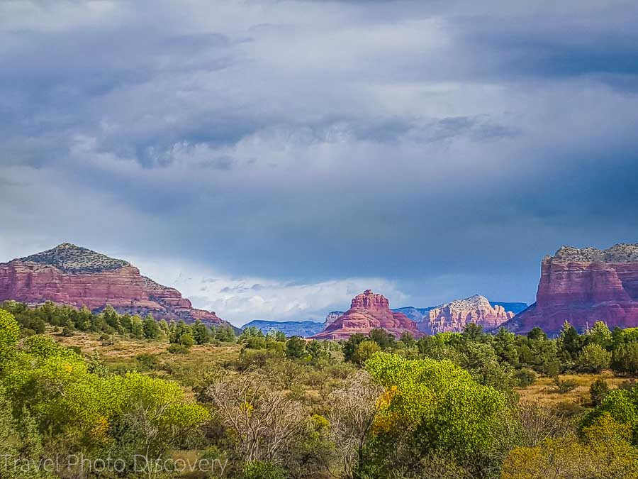 A first impression of the Red Rocks of Sedona from Hwy 179