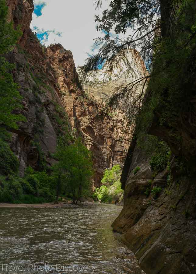 The Narrows entrance Zion National park Utah