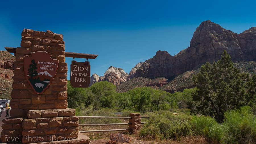 Entrance of Zion National Park Visiting Zion National Park