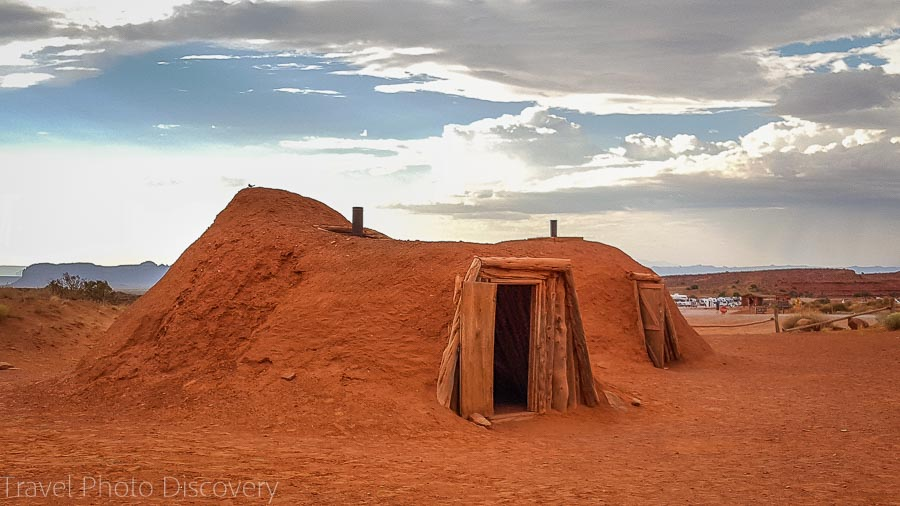 A Navajo Hogan Visiting and touring Monument Valley in Utah