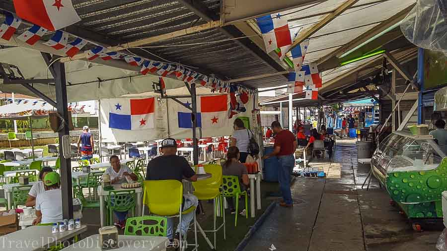 Dining at Mercado des Marisco Panama City, Panama