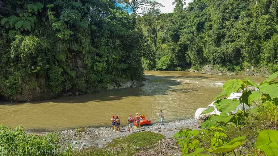 Start of the rafting experience in Boquete adventure tours