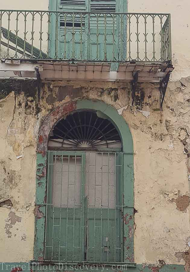 Portals and doors Architectural details walking around Casco Viejo in Panama City