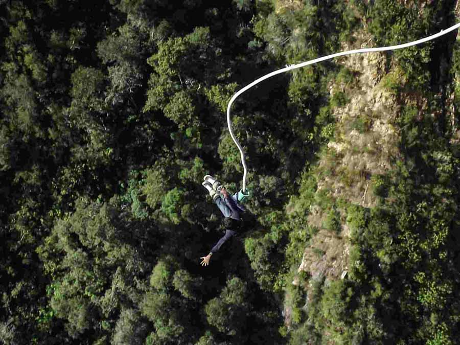 Top adventure and eco experiences bungee jumping in South Africa