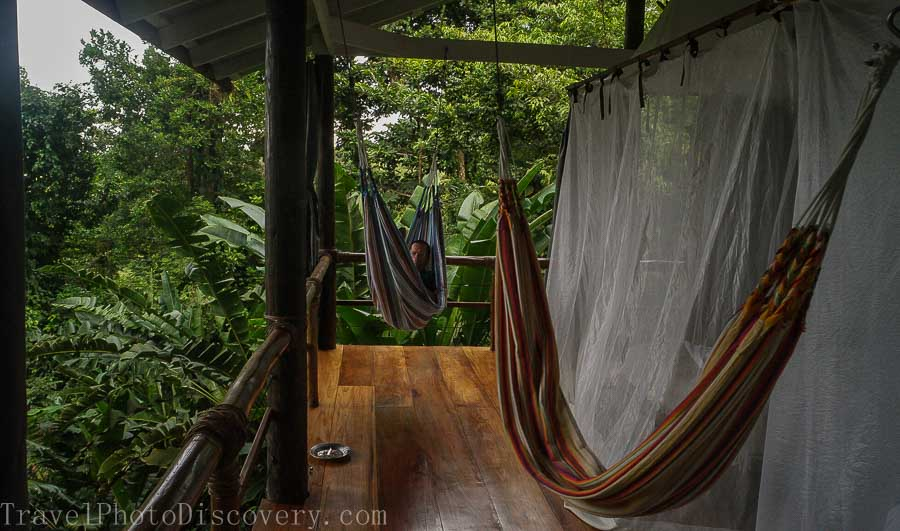 Casita and living area La Loma Eco luxury stay in Bocas del Toro