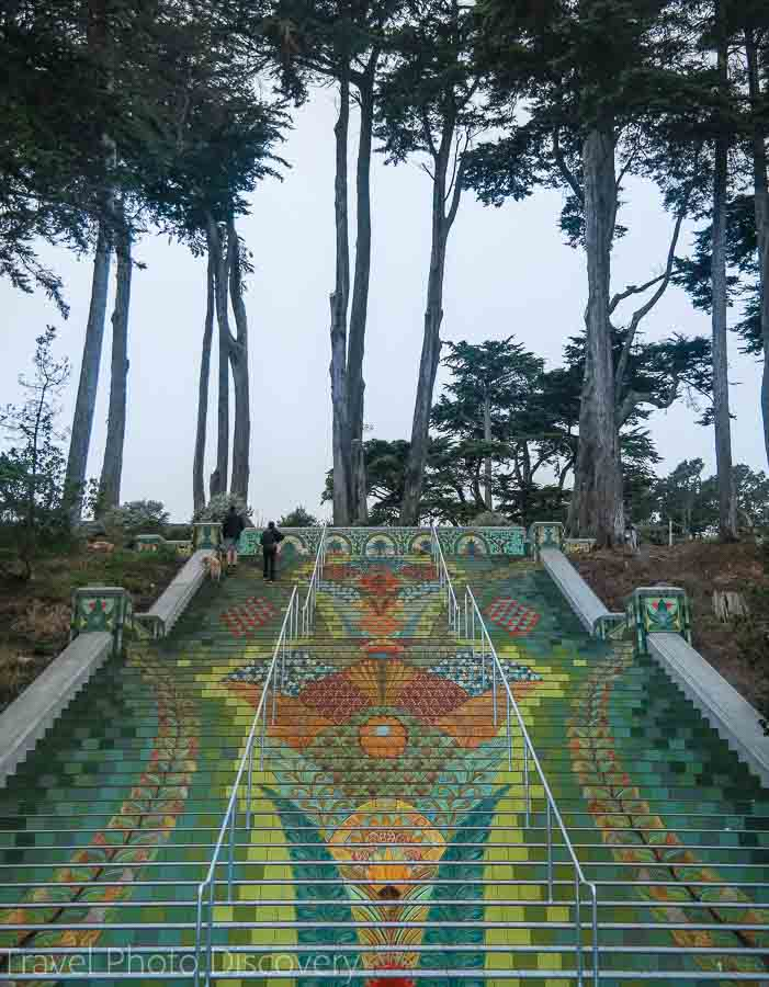 Romantic getaways around the world at San Francisco mosaic stairs at California street