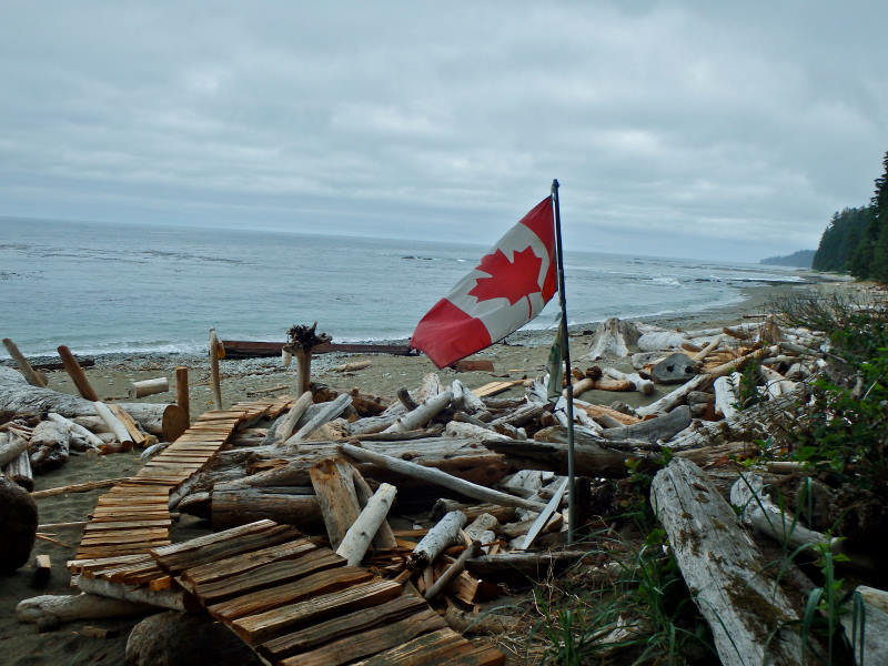 Beach walking British Columbia's West Coast Trail